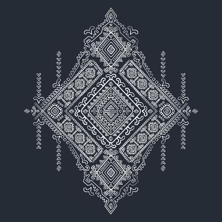 Vector Tribal Mexican vintage ethnic seamless pattern Stock Illustratie