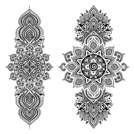 Set von Zier-indische Elemente und Symbole
