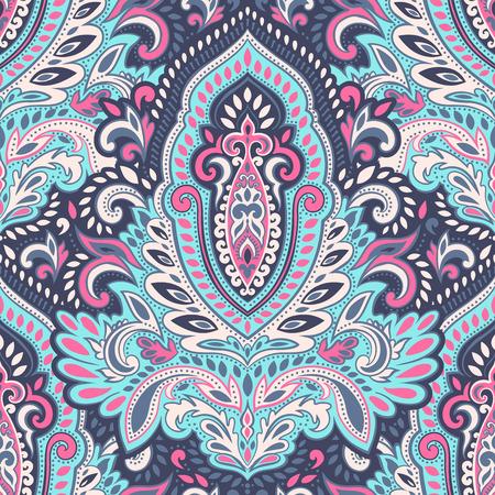 Belle vecteur feuille vintage floral pattern Banque d'images - 53413323