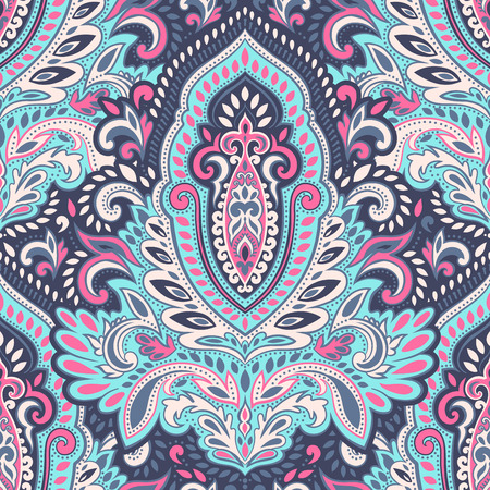 Beautiful vector vintage floral leaf seamless pattern Stock Illustratie