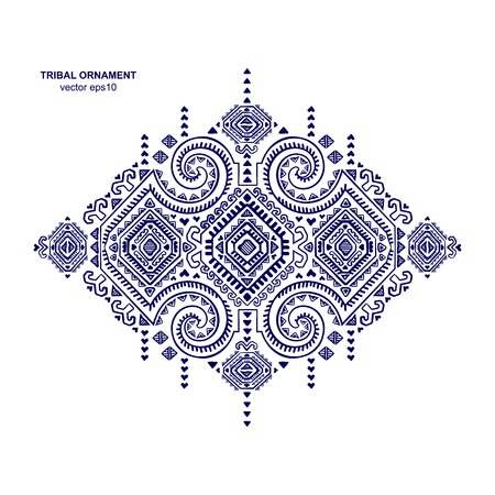 Tribal vector ethnic Mexican and African ornament. Textile design.