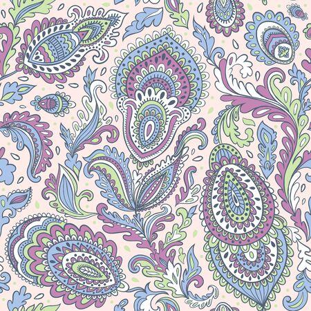 Beautiful vector vintage floral leaf seamless pattern Ilustracja