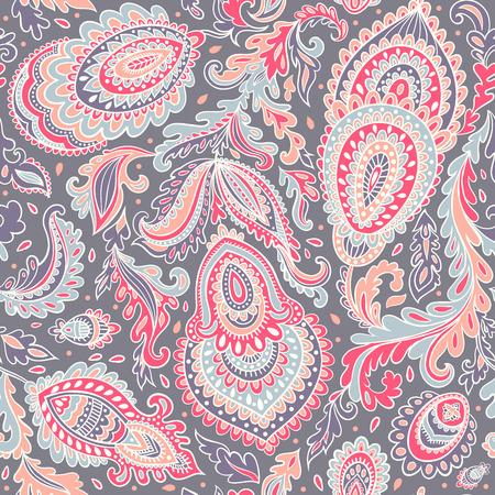vintage floral: Beautiful vector vintage floral leaf seamless pattern Illustration