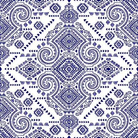 Vector Tribal Mexicaanse vintage etnische naadloze patroon