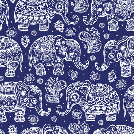 persia: Ethnic vintage elephant seamless for you business