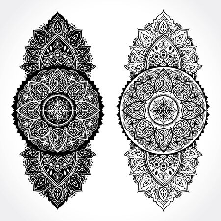 mandala: Beautiful Indian floral ornament. Ethnic Mandala. Henna tattoo style.
