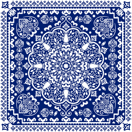 arabesco: ornamento floral india hermosa. Mandala étnica. estilo del tatuaje de la alheña. Vectores