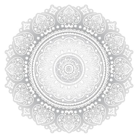 book case: Bohemian Indian Mandala towel print. Vintage Henna tattoo style Indian medallion. Ethnic ornament could be used as shirt print, greeting card, business card, phone case print, textile, coloring book Illustration