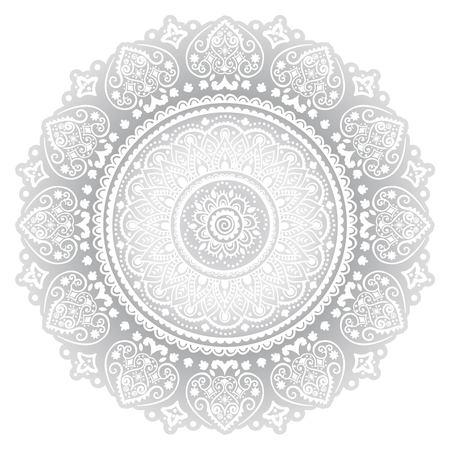 Bohemian Indische Mandala handdoek afdrukken. Vintage Henna tattoo stijl Indian medaillon. Etnische ornament kan worden gebruikt als overhemd print, wenskaart, visitekaartje, telefoon geval print, textiel, kleurboek