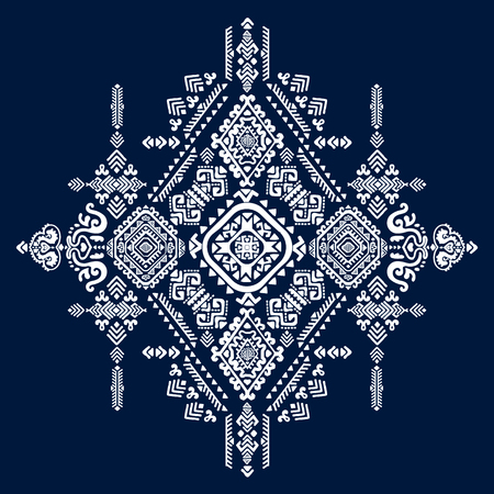 arabesco: Tribal vector patrón transparente de la vendimia étnica mexicana