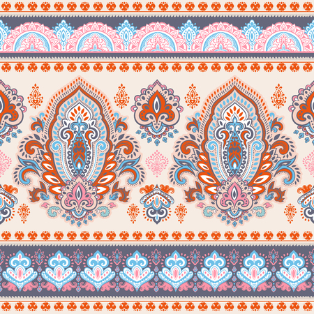 book case: Indian floral paisley seamless ornament print. Ethnic Mandala towel. Henna tattoo style. Can be used for textile, greeting business card background, coloring book, phone case print