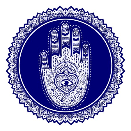 phone vector: Vector Indian hand drawn hamsa symbol ornament print. Ethnic Mandala towel. Vector Henna tattoo style. Can be used for textile, greeting business card background, coloring book, phone case print