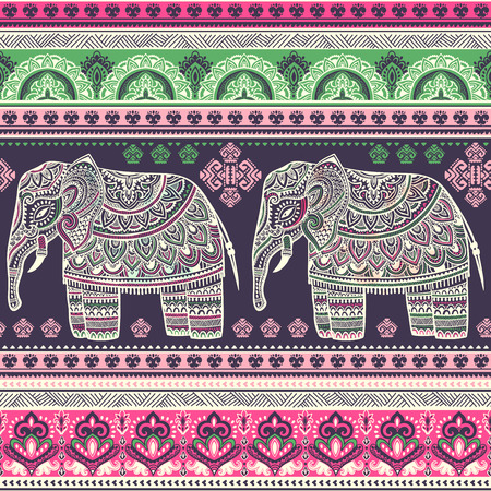 Vintage graphic vector Indian lotus ethnic elephant. African tribal ornament. Can be used for a coloring book, textile, prints, phone case, greeting card, business card