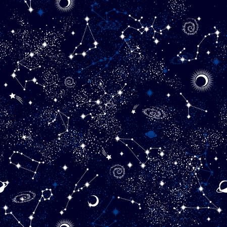 銀河 constilation シームレス パターン印刷  イラスト・ベクター素材