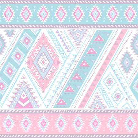Geometric aztec pattern. Tribal tattoo style can be used for textile, yoga mats, phone cases, rug