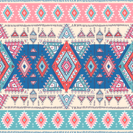 Geometric Aztec pattern. Tribal tattoo style. Can be used for textile, yoga mats, phone cases, coloring book.