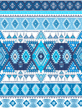 Geometric Aztec pattern. Tribal tattoo style can be used for textile, yoga mats, phone cases, coloring book. 向量圖像