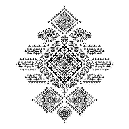 Geometric aztec pattern