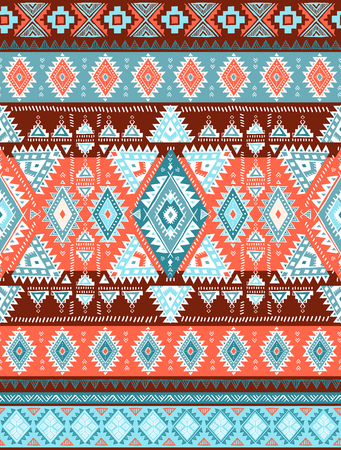 Geometric aztec pattern. Tribal tattoo style can be used for textile, yoga mats, phone cases, coloring book 向量圖像