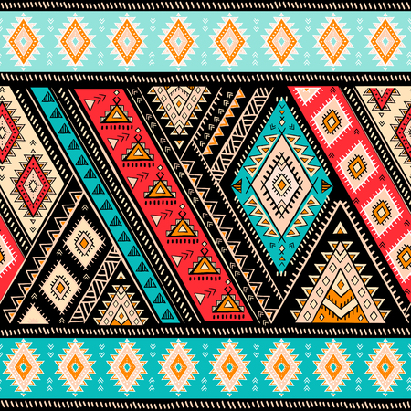 Motif aztèque géométrique. Le style de tatouage tribal peut être utilisé pour le textile, les tapis de yoga, les étuis de téléphone, les tapis