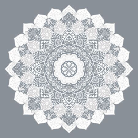 Bohemian Indian Mandala print. Vintage Henna tattoo style Banque d'images - 131078233