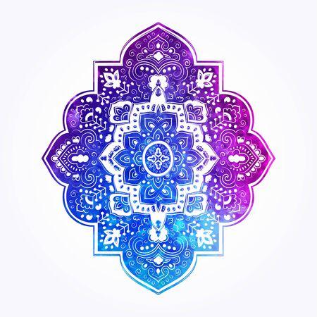 Bohemian Indian Mandala print. Vintage Henna tattoo style Banque d'images - 131078322