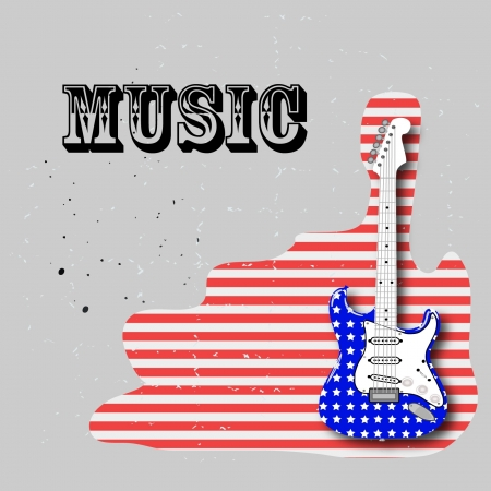 american rock guitar Vector