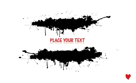 grunge banner: black grunge ink banner with place for text