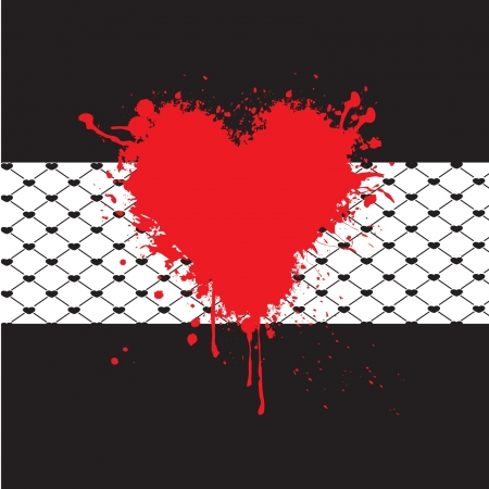 grunge heart background Illustration
