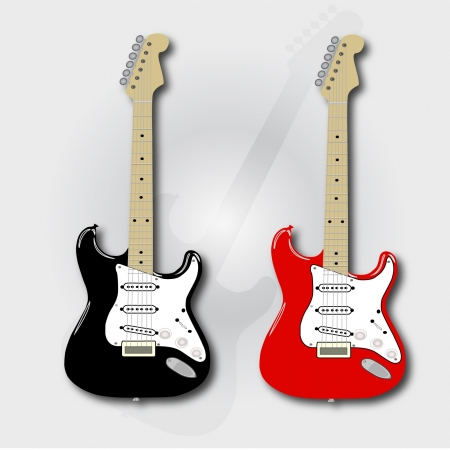 two electric guitars Illustration