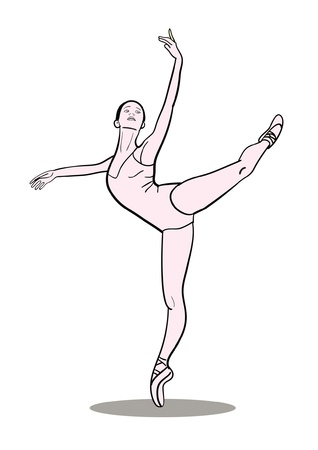 flexible sexy: Dancing ballerina