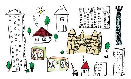 roof line: Establecer mano od edificio dibujo