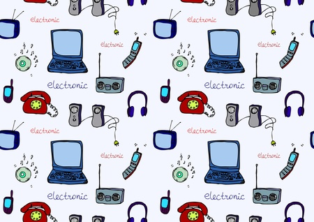 electronics seamless Stock Vector - 15854116