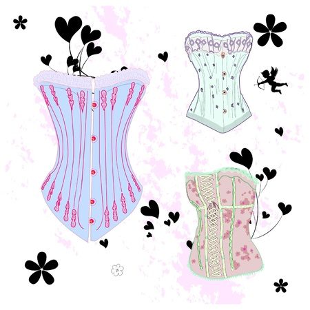 corset:  set of old fashioned corsage