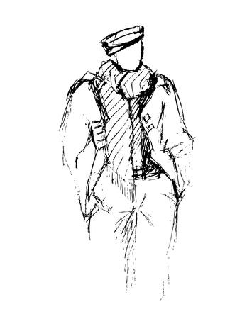 male fashion model:  Elegant man