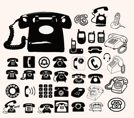 telephone icons: tel�fono