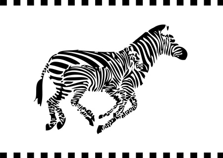 running zebras Stock Vector - 15280360