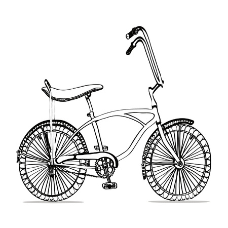 black bicycle Illustration