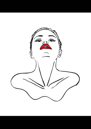 Sexual lips women Illustration