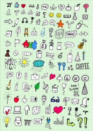 universal love: iconos de la mano de dibujo