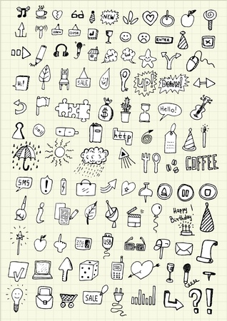 hand drawing icons