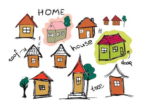 Sketch of art houses