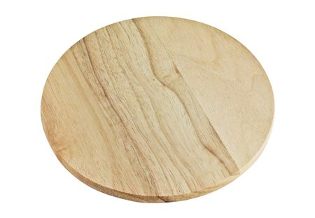 woody: Round Wooden Board isolated on a white background Stock Photo