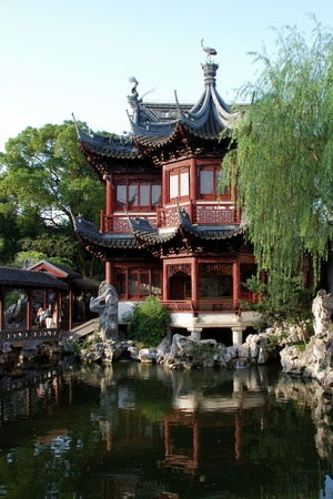 This is a view from Yu Yuan Garden in Shanghai.