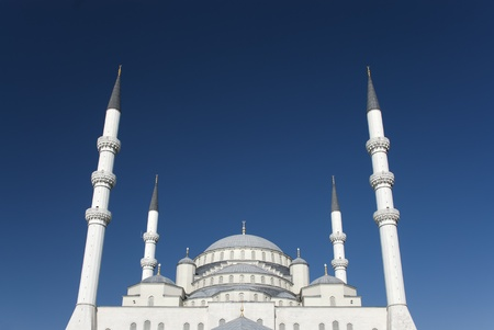 Kocatepe Mosque is a landmark of Ankara, Turkey