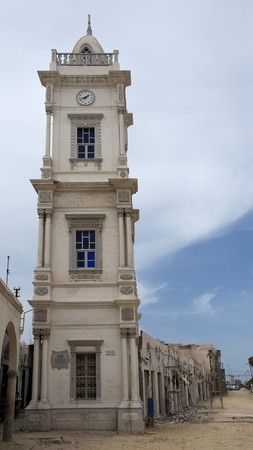 Reconstruction by the Clock Tower in Tripoli, Libya