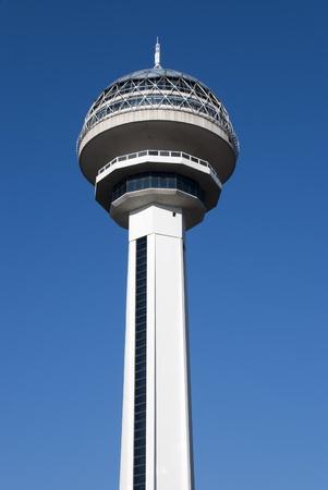 Atakule Tower is the primary landmark of Ankara, Turkey. Stock Photo