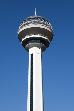 Atakule Tower is the primary landmark of Ankara, Turkey. Stock Photo