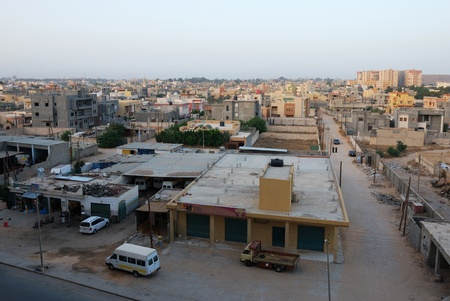 Panaromic view of a district in Tripoli, Libya.