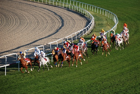 blinder: Ankara, Turkey - October 29, 2011 - October 29 Republic Day horse races at Hippodrome. Editorial